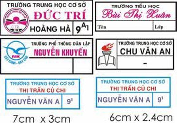 Sticker vải ủi áo dệt in, sticker vải ủi quần áo giá tốt TPHCM